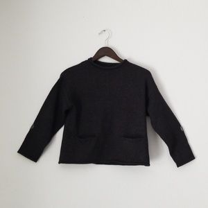 Zara knitwear grey long sleeve sweater